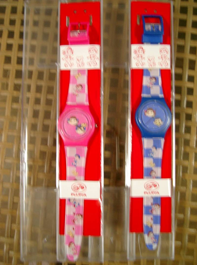 ペコちゃん&ポコちゃん懸賞腕時計